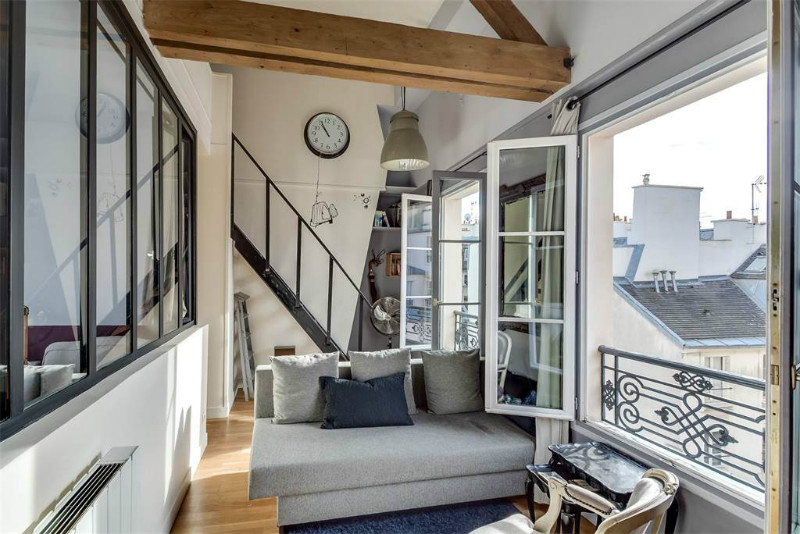 A Rooftop Apartment in Paris